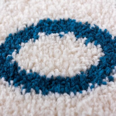 Sydney Cozy Feeling White Area Rug Rug Size: Oval 27 x 42
