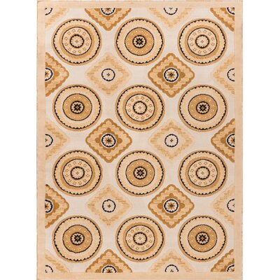 Tori Verisimo Formal Ivory Area Rug Rug Size: 33 x 53
