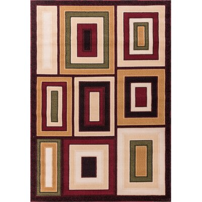 Dulcet Structure Brown Geometric Area Rug Rug Size: 710 x 910