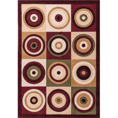 Dulcet Commerce Brown Geometric Area Rug Rug Size: 33 x 53