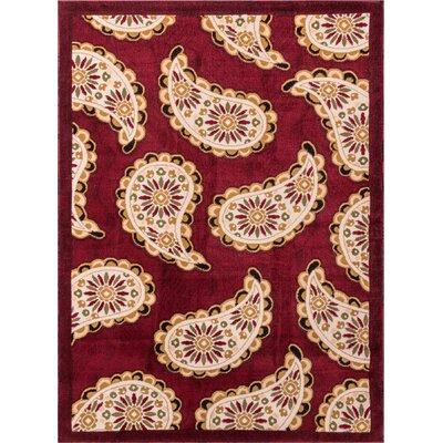 Tori Maya Modern Red Area Rug Rug Size: 710 x 910