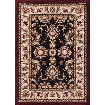 Comfy Living Black / Red  Area Rug Rug Size: 5 x 72