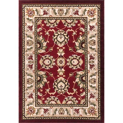 Comfy Living Red/Ivory Area Rug Rug Size: Rectangle 27 x 311