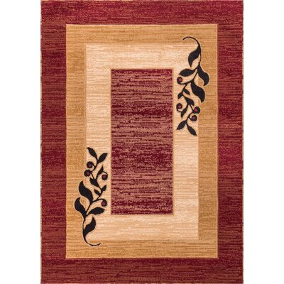 Comfy Living Red Area Rug Rug Size: Rectangle 710 x 910