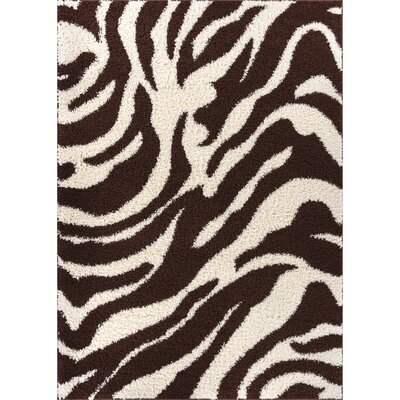 Madison Shag Brown Safari Area Rug Rug Size: 33 x 53