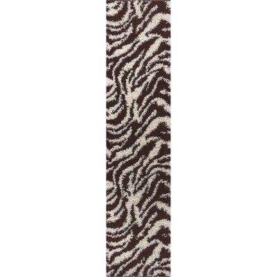 Madison Shag Brown Safari Area Rug Rug Size: Runner 18 x 72