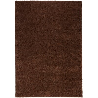 Madison Shag Coffee Bean Plain Area Rug Rug Size: 67 x 910