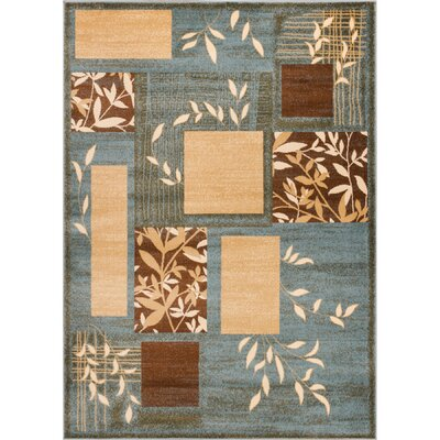 Ownby Modern Blue Area Rug Rug Size: Rectangle 53 x 73