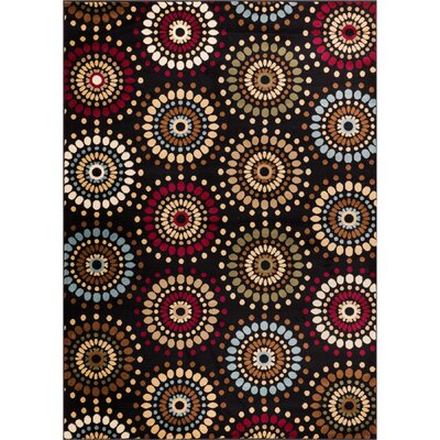 Barclay Orchid Black Fields Dots Area Rug Rug Size: Rectangle 311 x 53