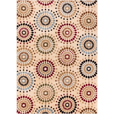 Barclay Orchid Ivory Fields Dots Area Rug Rug Size: Rectangle 53 x 73