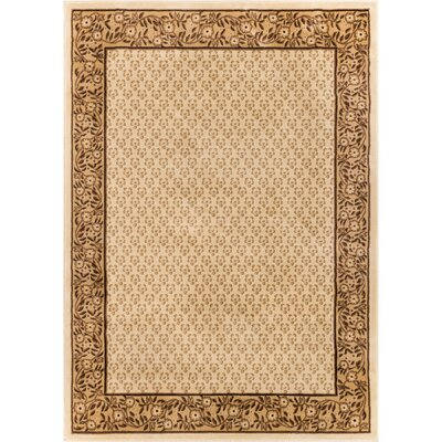 Barclay Terrazzo Ivory Floral Border Area Rug Rug Size: 23 x 311