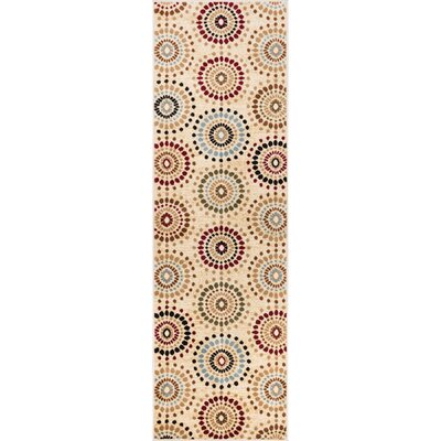 Barclay Orchid Ivory Fields Dots Area Rug Rug Size: Runner 27 x 910
