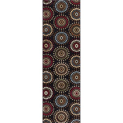 Barclay Orchid Black Fields Dots Area Rug Rug Size: Runner 27 x 91