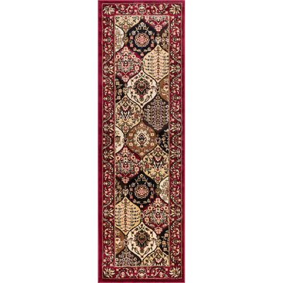 Barclay Wentworth Panel Traditional Red Area Rug