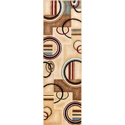 Ari Ivory Arcs and Shapes Area Rug Rug Size: Runner 23 x 73