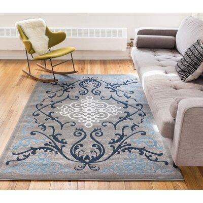 Tori Blue Area Rug Rug Size: 93 x 126