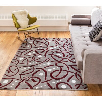 Hilary Red Area Rug Rug Size: 5 x 72