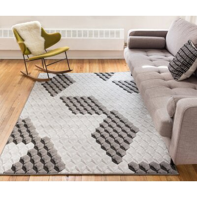 Collinsville Black Area Rug Rug Size: 710 x 910