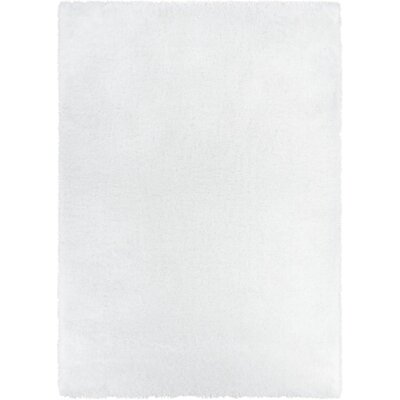 Feather Liza White Area Rug Rug Size: 67 x 910