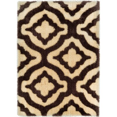 Feather Jesse Trellis Beige Area Rug Rug Size: Rectangle 53 x 73