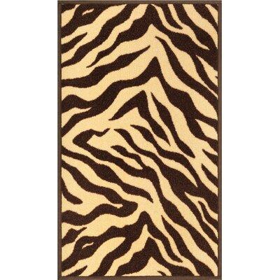 Kings Court Brown Zebra Animal Print Rug Rug Size: 66 x 92