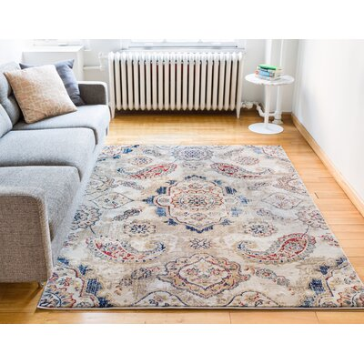 Luxury Vintage Look Beige Area Rug Rug Size: 710 x 106