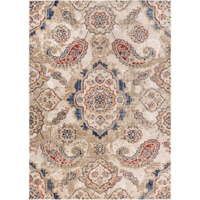 Luxury Handmade Beige Area Rug Rug Size: 53 x 73
