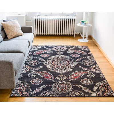 Luxury Vintage Look Brown Area Rug Rug Size: 710 x 106