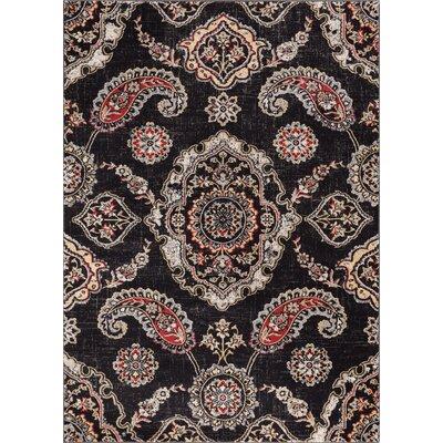 Luxury Handmade Brown Area Rug Rug Size: 53 x 73
