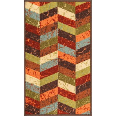Kings Court Red Area Rug Rug Size: 18 x 5