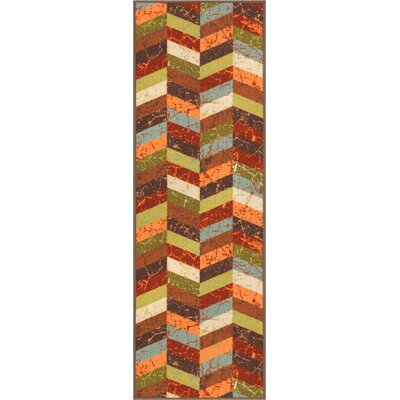 Kings Court Red Area Rug Rug Size: Runner 2 x 7