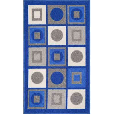 Kings Court Blue Area Rug Rug Size: 33 x 47