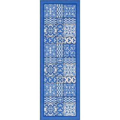 Petrillo Blue Area Rug Rug Size: Runner 2 x 7