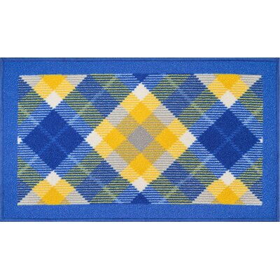 Covey Blue Area Rug Rug Size: 33 x 47