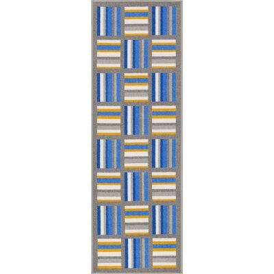 Kings Court Blue/Gray Area Rug Rug Size: Runner 2 x 7