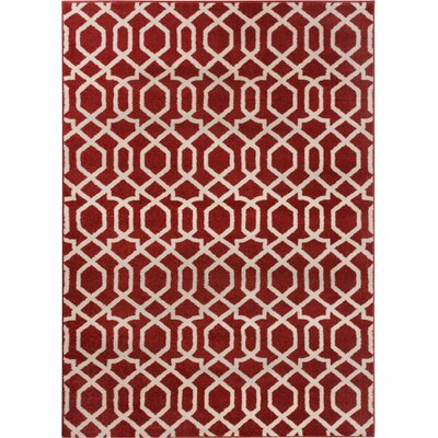 Sydney Geo Helix Red Area Rug Rug Size: Rectangle 23 x 311