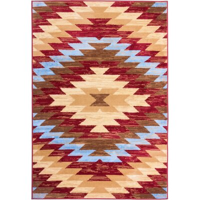 Binstead Southwestern Area Rug Rug Size: Rectangle 93 x 126