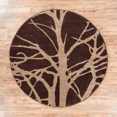 Ruby Tree Branches Contemporary Rug Rug Size: Round 53