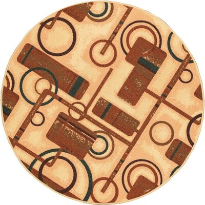 Kings Court Natural Prescott Rug Rug Size: Round 43