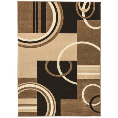 Ruby Galaxy Waves Contemporary Area Rug Rug Size: 67 x 93