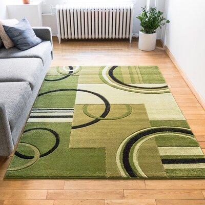 Galaxy Wave Green/Ivory Area Rug