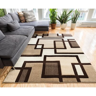 Imagination Square Ivory/Brown Area Rug