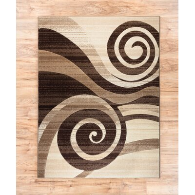 Whirlwind Brown/Ivory Area Rug Rug Size: 67 x 93