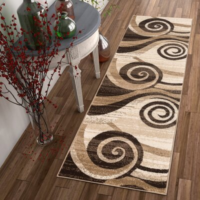 Whirlwind Brown/Ivory Area Rug Rug Size: Rectangle 2 x 3
