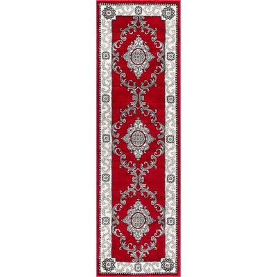 Ash Yonderhill Traditional Red Indoor Area Rug Rug Size: Runner 23 x 73