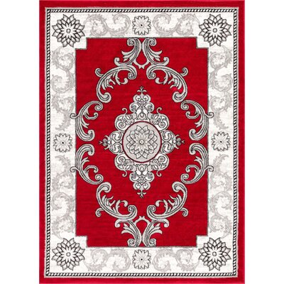 Ash Yonderhill Traditional Red Indoor Area Rug Rug Size: Rectangle 710 x 910