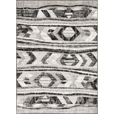 Ash Isla Modern Black Indoor Area Rug Rug Size: Rectangle 93 x 126