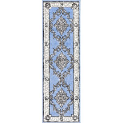 Ash Yonderhill Traditional Blue Indoor Area Rug Rug Size: Runner 23 x 73