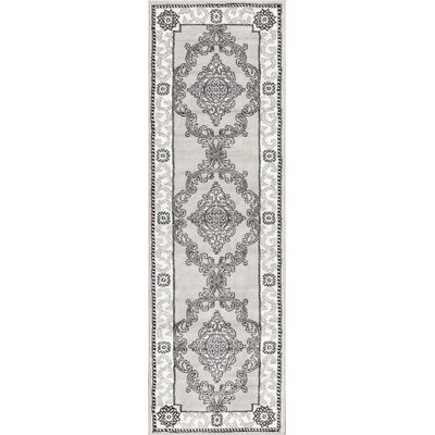 Ash Yonderhill Traditional Gray Indoor Area Rug Rug Size: Runner 23 x 73