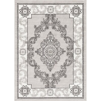 Ash Yonderhill Traditional Gray Indoor Area Rug Rug Size: 93 x 126